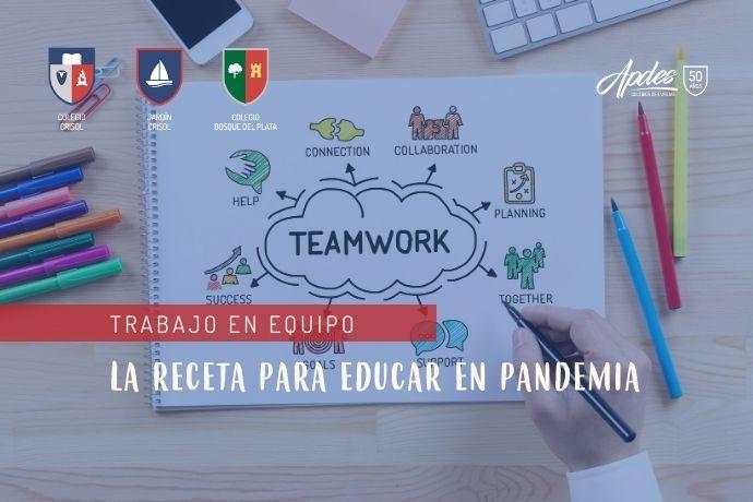 trabajo en equipo familia y colegios